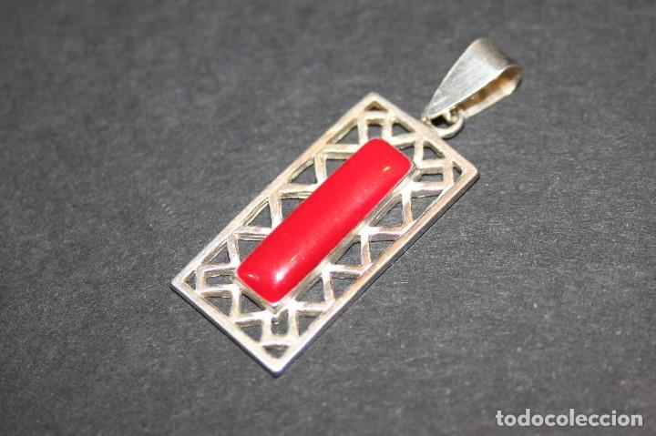 Joyeria: Colgante de plata con esmalte rojo - Foto 3 - 118397223