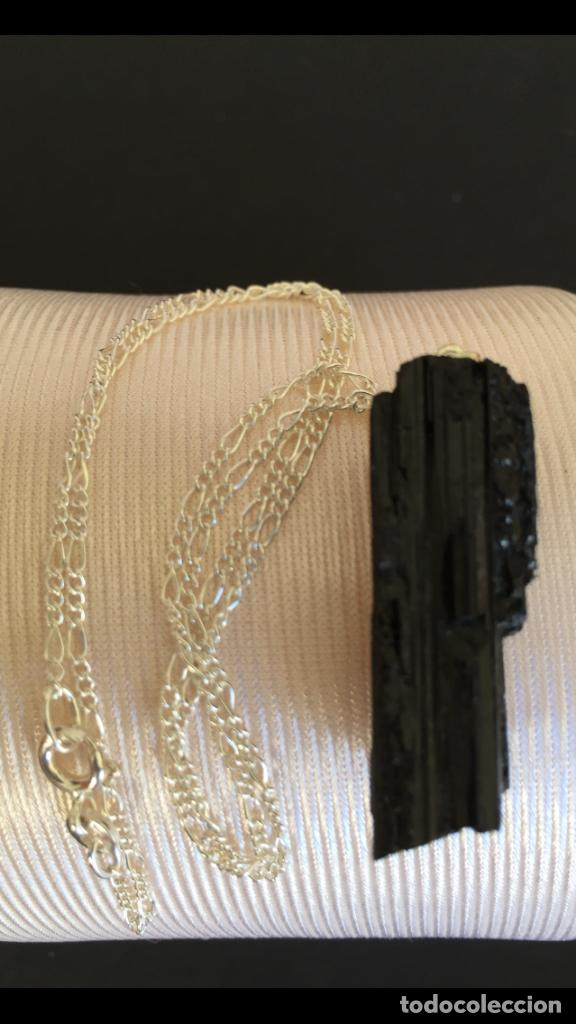 Joyeria: Collar de plata de ley 925 con colgante de turmalina negra natural - Foto 3 - 126425040