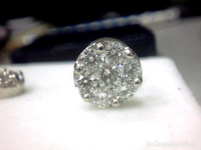 Joyeria: pendientes oro blanco 18 kl y diamantes - Foto 3 - 118824747