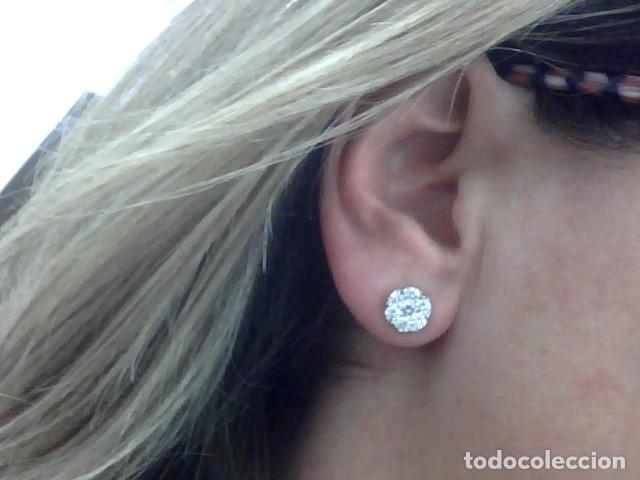 Joyeria: pendientes oro blanco 18 kl y diamantes - Foto 5 - 118824747