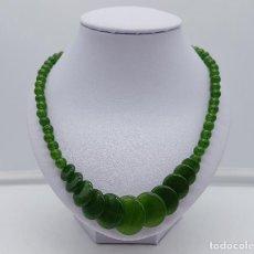 Schmuck - Bella gargantilla en perlas y cuentas tipo moneda en ágata verde . - 130964191