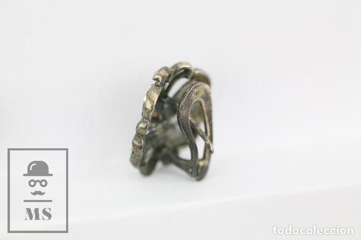 Joyeria: Antiguos Pendientes de Plata con Incrustaciones Pedrería - Mariposas Art Nouveau - Principios S. XX - Foto 4 - 118876415
