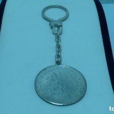 Joyeria: LLAVERO CON MONEDA DE 2 1/2 DOLARES EN PLATA DE LEY (925MM).CA.1970. Lote 119102619