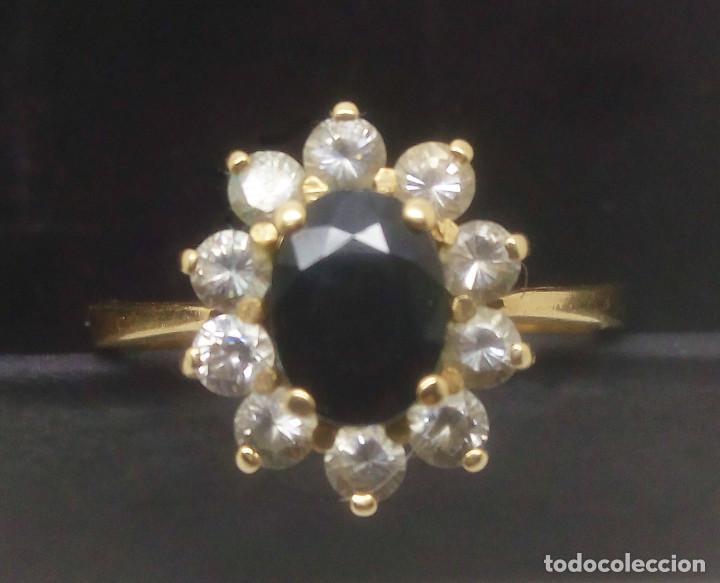 18f5001d522c anillo de oro 18k con zafiro y circonitas peso  - Comprar Anillos ...