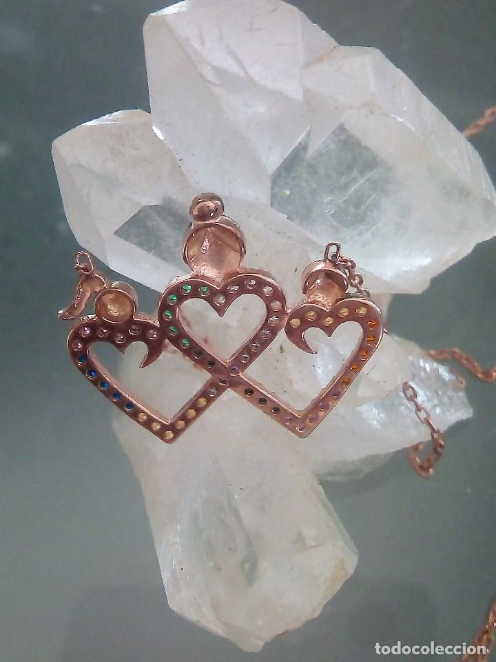 Joyeria: Cadena collar con colgante en plata de ley laminado oro 14Kt - Nuevo - Foto 2 - 119268999