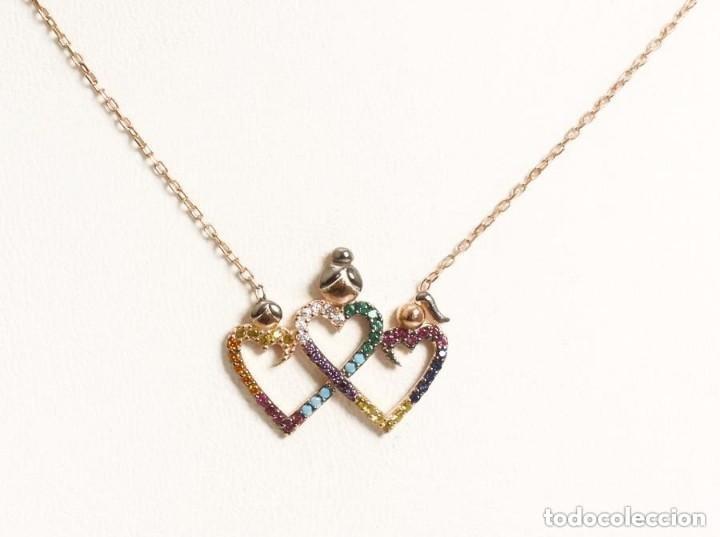 Joyeria: Cadena collar con colgante en plata de ley laminado oro 14Kt - Nuevo - Foto 3 - 119268999
