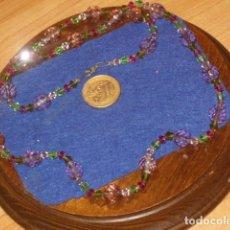 Joyeria: ANTIGUO COLLAR DE CRISTALES FACETADOS NATURALES.. Lote 119377143