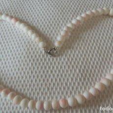 Joyeria - Collar coral piel de angel. 49 cms total. Estado muy bueno. - 119454379