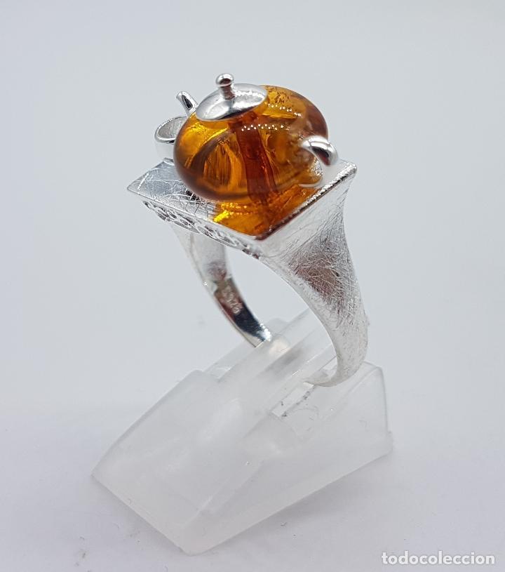 Joyeria: Original anillo en plata de ley de artesania zen oriental con tetera y taza para té, hecho a mano . - Foto 2 - 119487451