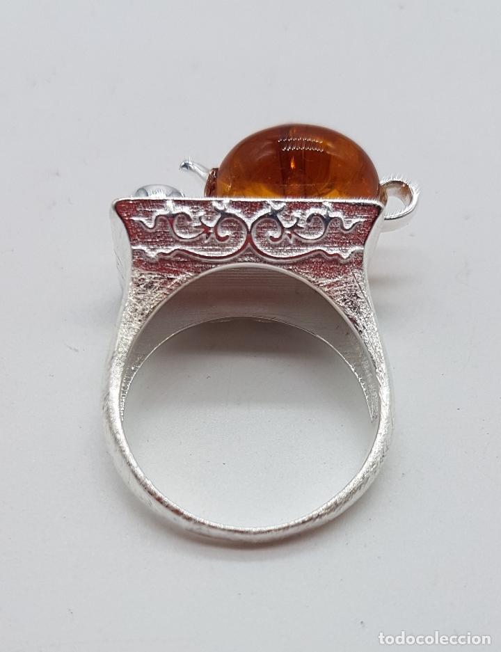 Joyeria: Original anillo en plata de ley de artesania zen oriental con tetera y taza para té, hecho a mano . - Foto 6 - 119487451