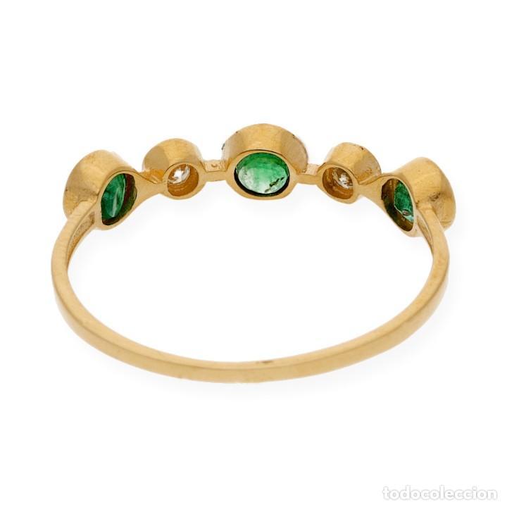 Joyeria: Anillo Diamantes y Esmeraldas en Oro de Ley 18k - Foto 5 - 215524202