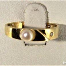 Jewelry - Sortija de oro de ley de 18K con brillante y perla - 114526307