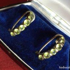 Joyeria - Preciosos pendientes antiguos Peridotos y plata - 119943450