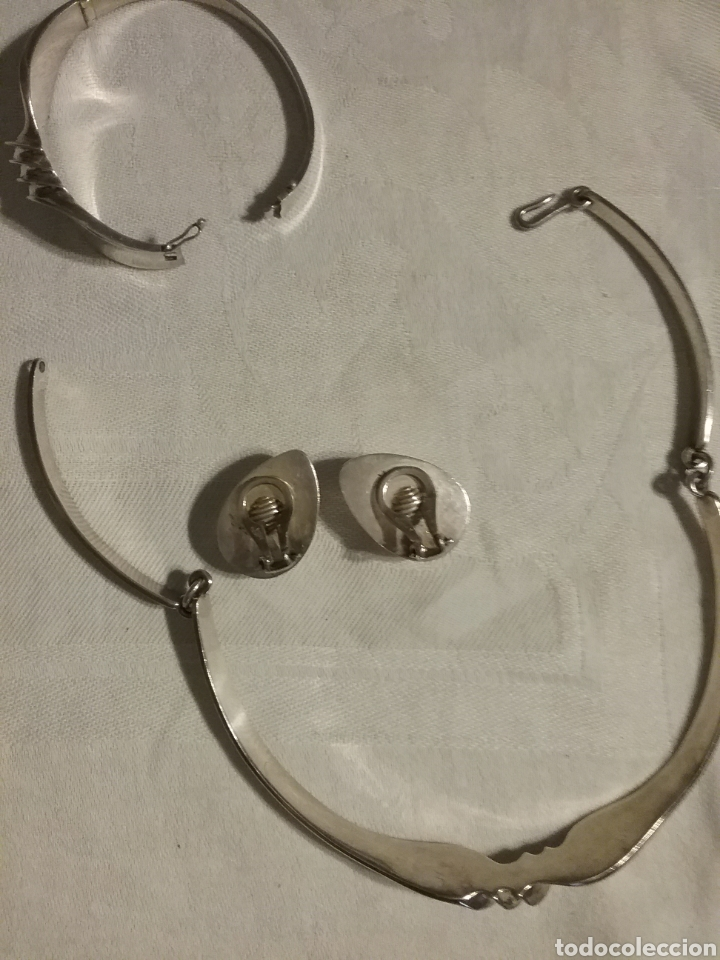 Joyeria: Conjunto de gargantilla, pulsera y pendientes de plata de PUIG DORIA. - Foto 6 - 78123154