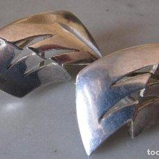 Joyeria: GRANDES PENDIENTES DE PLATA SELLADOS. Lote 120137491