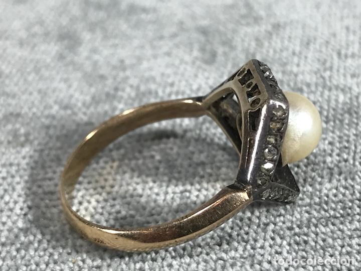 Joyeria: Anillo en Oro, Oro blanco 18k, diamantes y perla - Foto 6 - 120229354