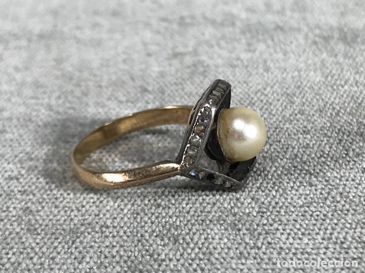 Joyeria: Anillo en Oro, Oro blanco 18k, diamantes y perla - Foto 7 - 120229354
