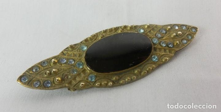 Joyeria: Broche antiguo con engarces de cristal. - Foto 2 - 120558347