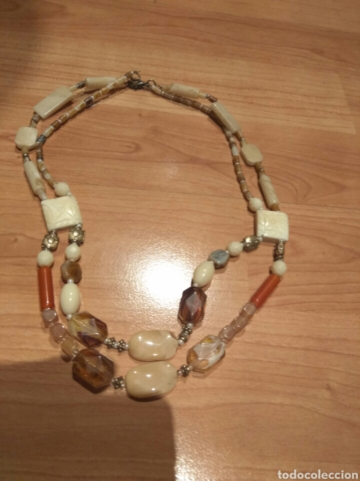 Joyeria: Collar de hueso,cristal y acrilicos.años 70 - Foto 2 - 120848872