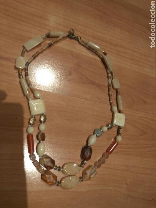 Joyeria: Collar de hueso,cristal y acrilicos.años 70 - Foto 3 - 120848872