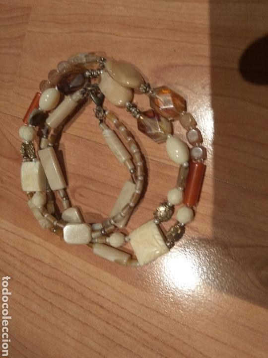 Joyeria: Collar de hueso,cristal y acrilicos.años 70 - Foto 4 - 120848872