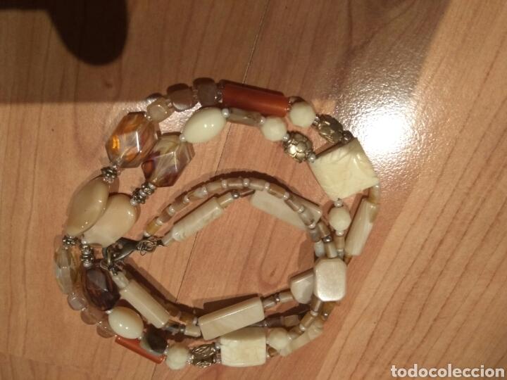 Joyeria: Collar de hueso,cristal y acrilicos.años 70 - Foto 5 - 120848872