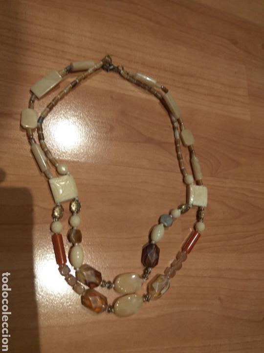 Joyeria: Collar de hueso,cristal y acrilicos.años 70 - Foto 6 - 120848872