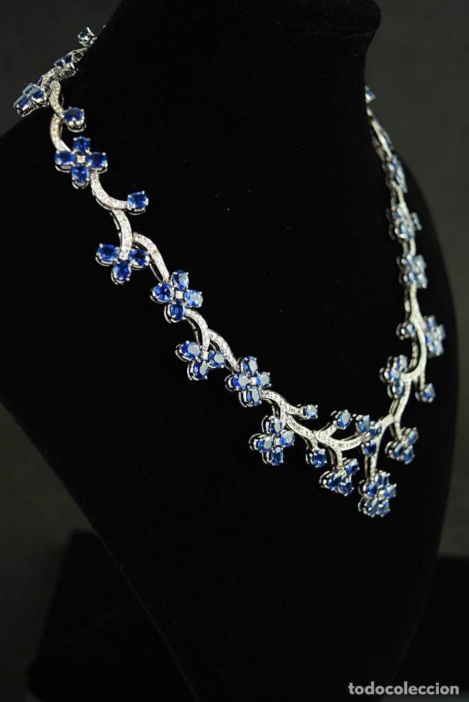 Joyeria: Alta Joyeria, Importante Collar, 9,00ct Diamantes VVS-G, 43,20ct Zafiros azules de Cachemira - Foto 2 - 121076655