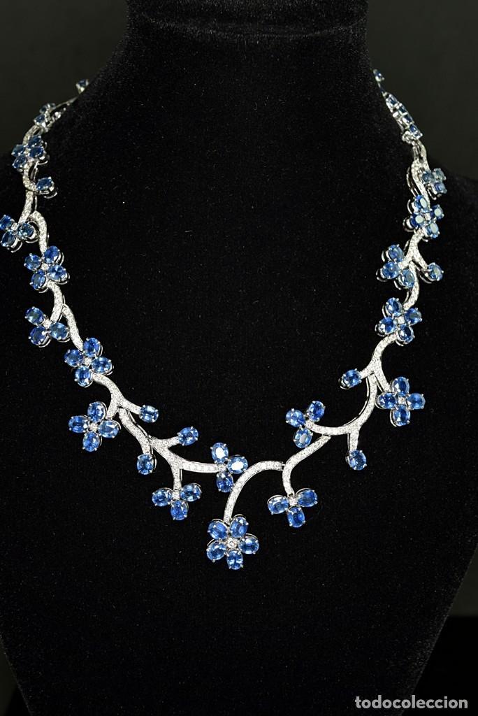 Joyeria: Alta Joyeria, Importante Collar, 9,00ct Diamantes VVS-G, 43,20ct Zafiros azules de Cachemira - Foto 3 - 121076655