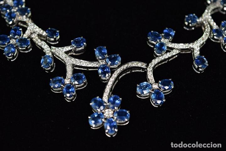 Joyeria: Alta Joyeria, Importante Collar, 9,00ct Diamantes VVS-G, 43,20ct Zafiros azules de Cachemira - Foto 5 - 121076655
