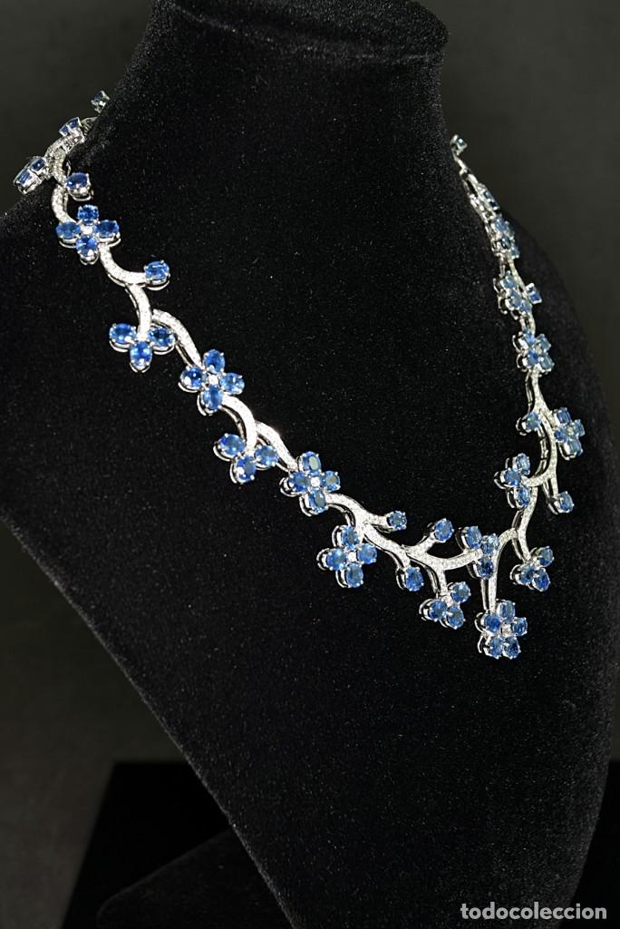 Joyeria: Alta Joyeria, Importante Collar, 9,00ct Diamantes VVS-G, 43,20ct Zafiros azules de Cachemira - Foto 6 - 121076655