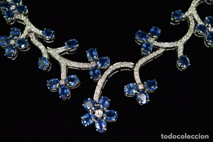 Joyeria: Alta Joyeria, Importante Collar, 9,00ct Diamantes VVS-G, 43,20ct Zafiros azules de Cachemira - Foto 7 - 121076655