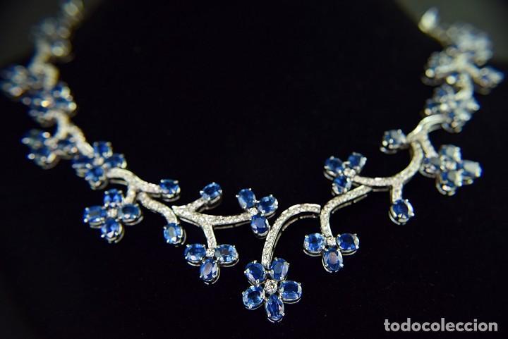 Joyeria: Alta Joyeria, Importante Collar, 9,00ct Diamantes VVS-G, 43,20ct Zafiros azules de Cachemira - Foto 8 - 121076655