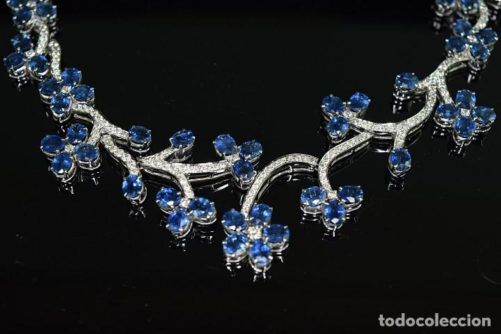 Joyeria: Alta Joyeria, Importante Collar, 9,00ct Diamantes VVS-G, 43,20ct Zafiros azules de Cachemira - Foto 9 - 121076655