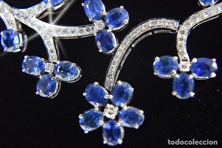 Joyeria: Alta Joyeria, Importante Collar, 9,00ct Diamantes VVS-G, 43,20ct Zafiros azules de Cachemira - Foto 10 - 121076655