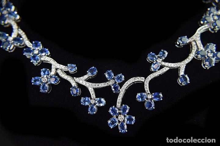Joyeria: Alta Joyeria, Importante Collar, 9,00ct Diamantes VVS-G, 43,20ct Zafiros azules de Cachemira - Foto 11 - 121076655