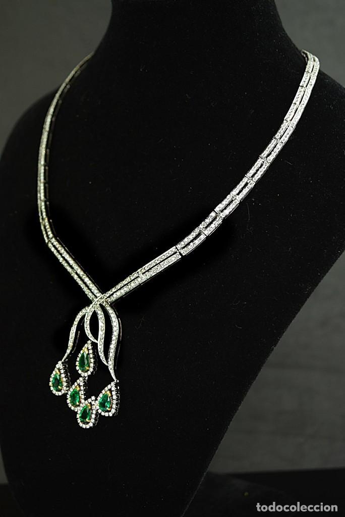 Joyeria: Alta Joyeria, Importante Collar, 12,30ct Diamantes VVS-G, 3,75ct de excepcionales Esmeraldas de Muzo - Foto 2 - 121084771