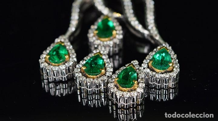 Joyeria: Alta Joyeria, Importante Collar, 12,30ct Diamantes VVS-G, 3,75ct de excepcionales Esmeraldas de Muzo - Foto 3 - 121084771