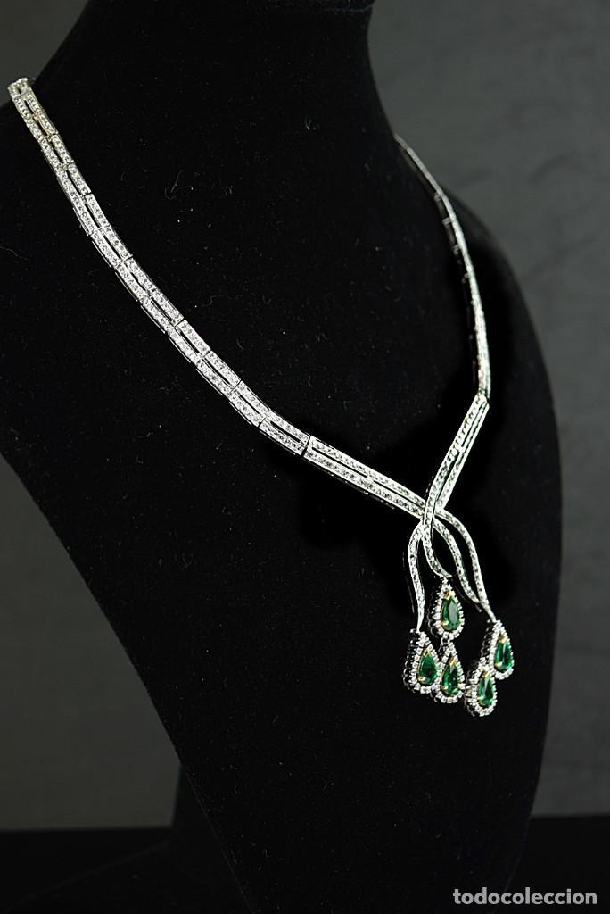 Joyeria: Alta Joyeria, Importante Collar, 12,30ct Diamantes VVS-G, 3,75ct de excepcionales Esmeraldas de Muzo - Foto 4 - 121084771