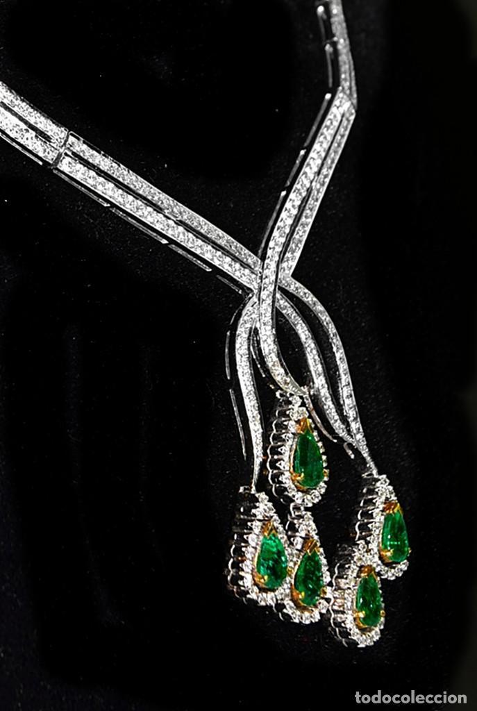 Joyeria: Alta Joyeria, Importante Collar, 12,30ct Diamantes VVS-G, 3,75ct de excepcionales Esmeraldas de Muzo - Foto 5 - 121084771