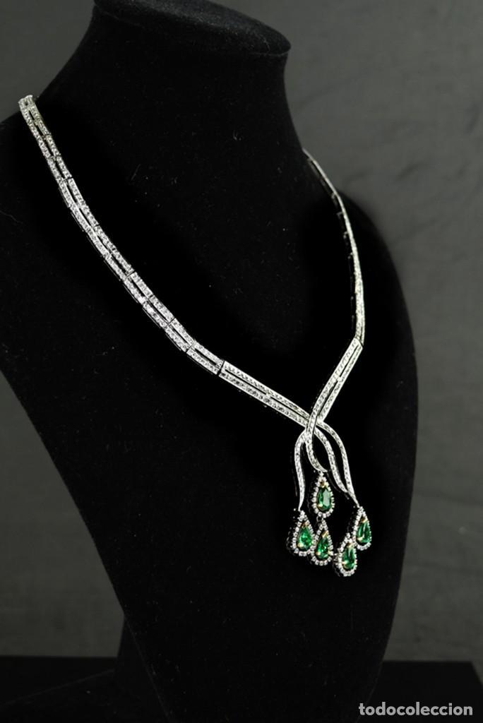 Joyeria: Alta Joyeria, Importante Collar, 12,30ct Diamantes VVS-G, 3,75ct de excepcionales Esmeraldas de Muzo - Foto 6 - 121084771