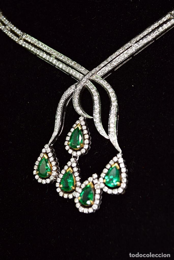 Joyeria: Alta Joyeria, Importante Collar, 12,30ct Diamantes VVS-G, 3,75ct de excepcionales Esmeraldas de Muzo - Foto 7 - 121084771