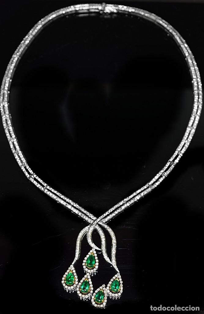 Joyeria: Alta Joyeria, Importante Collar, 12,30ct Diamantes VVS-G, 3,75ct de excepcionales Esmeraldas de Muzo - Foto 8 - 121084771