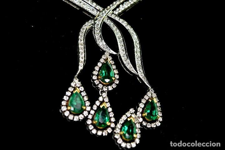 Joyeria: Alta Joyeria, Importante Collar, 12,30ct Diamantes VVS-G, 3,75ct de excepcionales Esmeraldas de Muzo - Foto 9 - 121084771