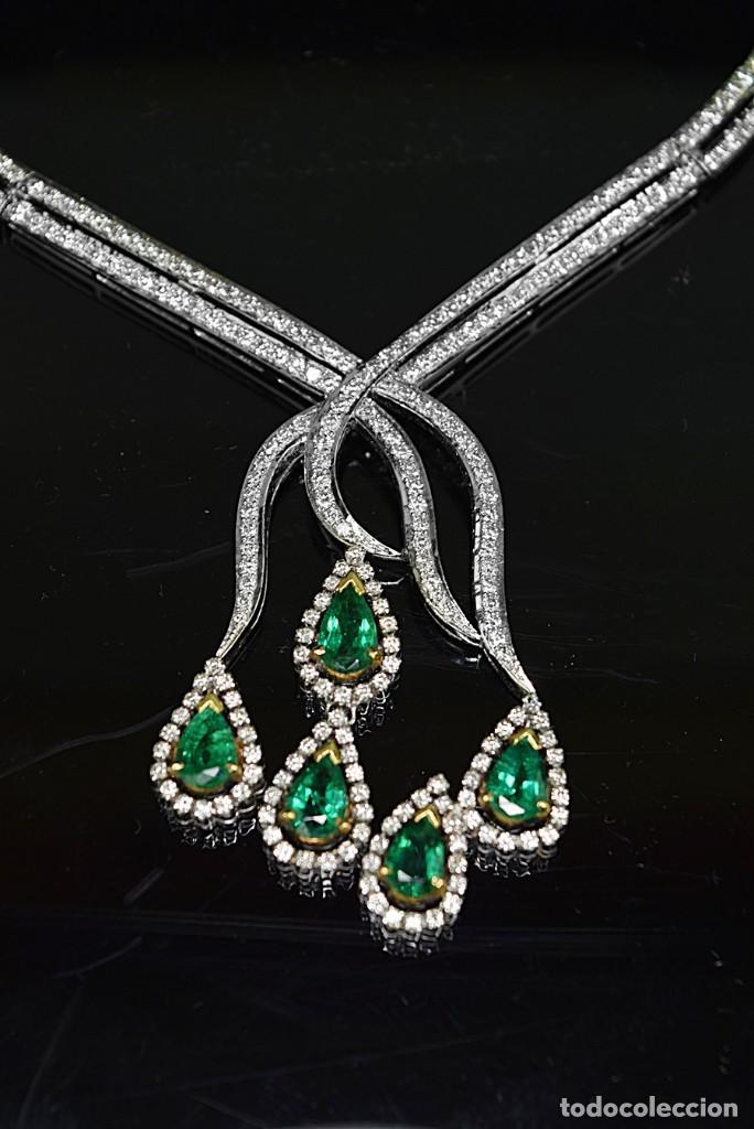 Joyeria: Alta Joyeria, Importante Collar, 12,30ct Diamantes VVS-G, 3,75ct de excepcionales Esmeraldas de Muzo - Foto 10 - 121084771