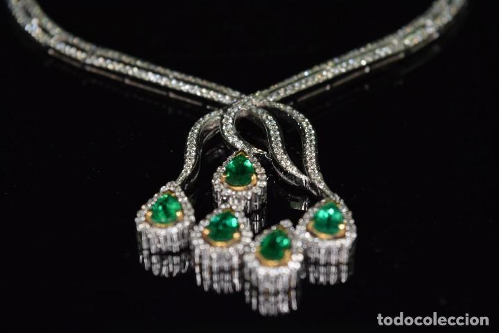 Joyeria: Alta Joyeria, Importante Collar, 12,30ct Diamantes VVS-G, 3,75ct de excepcionales Esmeraldas de Muzo - Foto 11 - 121084771