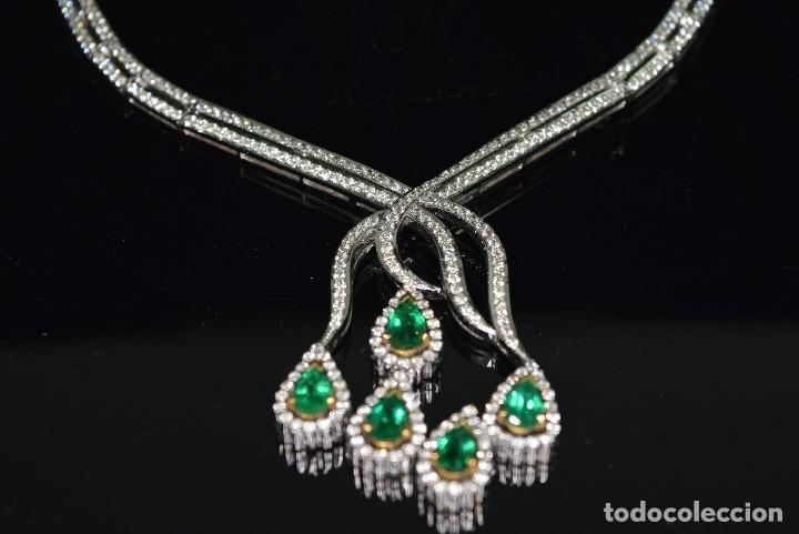 Joyeria: Alta Joyeria, Importante Collar, 12,30ct Diamantes VVS-G, 3,75ct de excepcionales Esmeraldas de Muzo - Foto 12 - 121084771