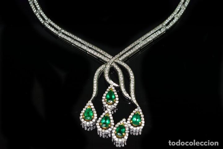 Joyeria: Alta Joyeria, Importante Collar, 12,30ct Diamantes VVS-G, 3,75ct de excepcionales Esmeraldas de Muzo - Foto 13 - 121084771