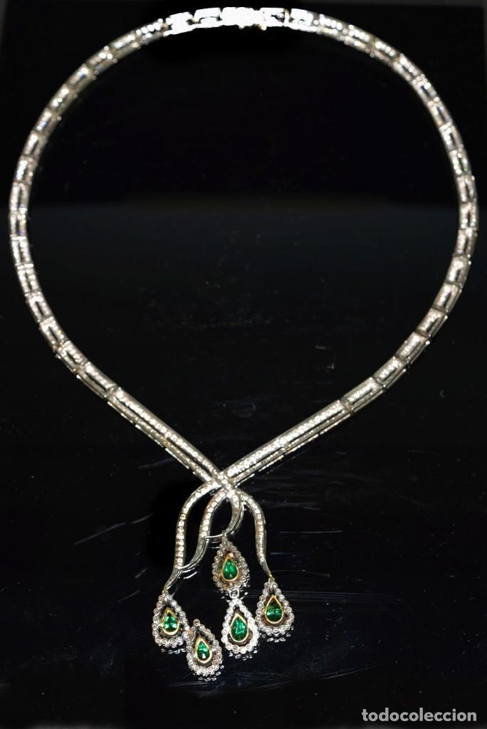 Joyeria: Alta Joyeria, Importante Collar, 12,30ct Diamantes VVS-G, 3,75ct de excepcionales Esmeraldas de Muzo - Foto 14 - 121084771