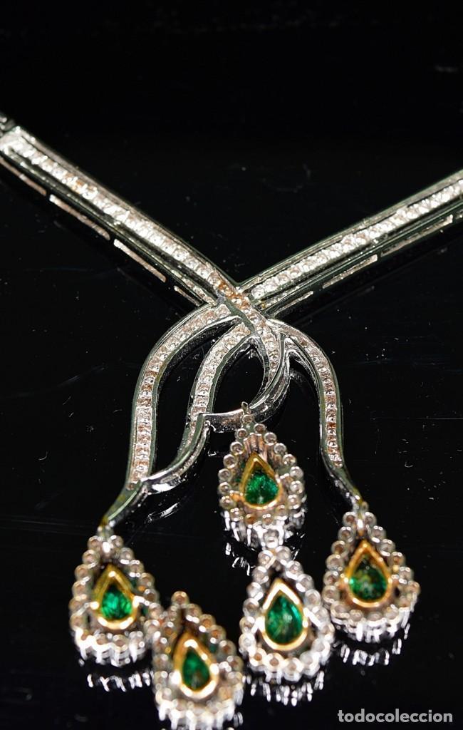 Joyeria: Alta Joyeria, Importante Collar, 12,30ct Diamantes VVS-G, 3,75ct de excepcionales Esmeraldas de Muzo - Foto 15 - 121084771